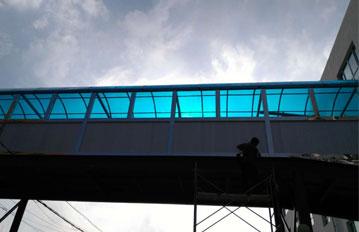 北京耐力板通道雨棚,工程案例