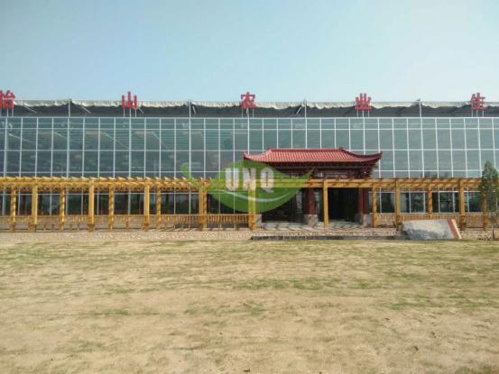 优尼科阳光板助力太原天怡山2000平农业生态餐厅