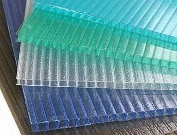 淡蓝色16mm四层阳光板
