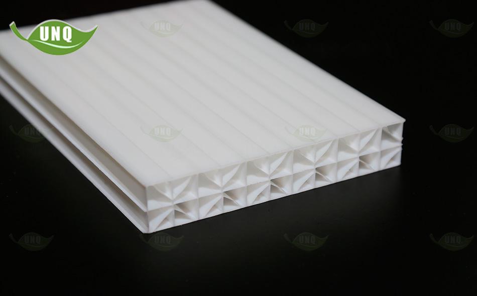 乳白米字型阳光板