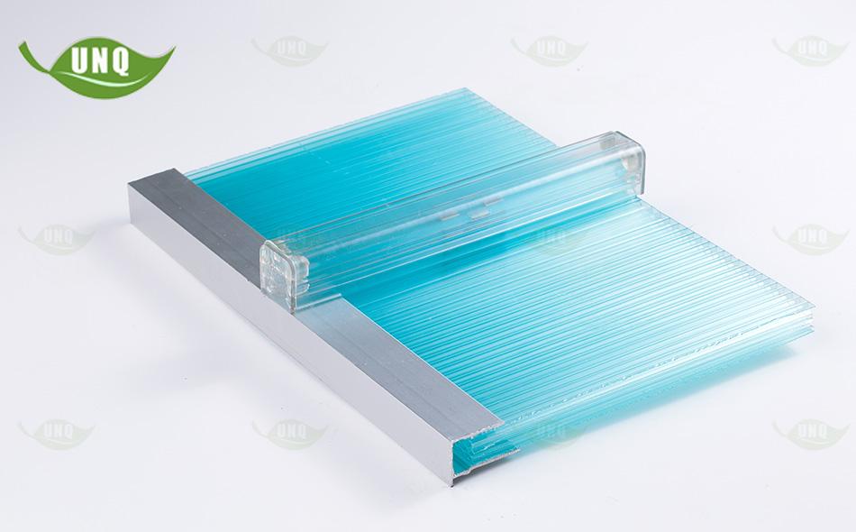 湖蓝锁扣阳光板