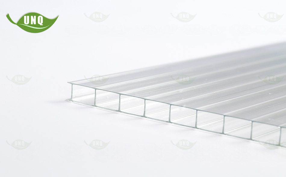 8mm透明双层阳光板