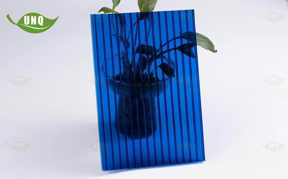 10mm宝蓝三层阳光板