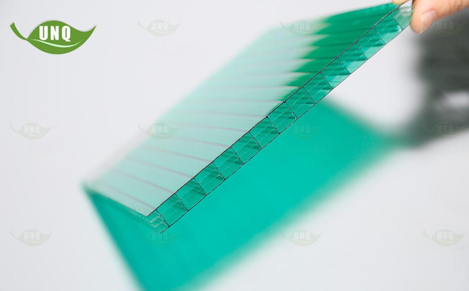 8mm草绿四层阳光板