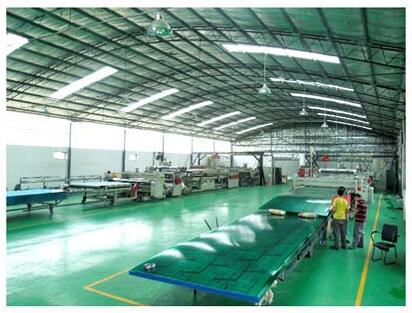 优尼科阳光板工厂图片
