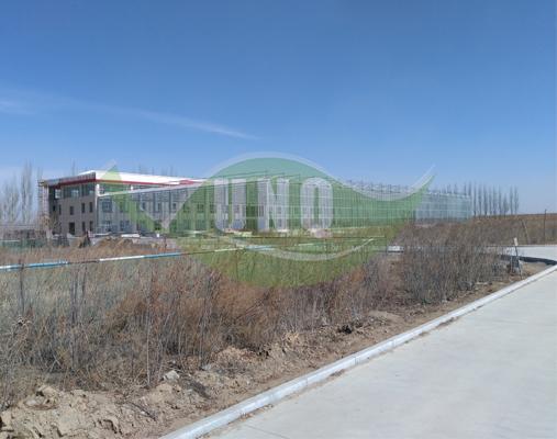 包头小白河温室采用我公司十年阳光板4000平