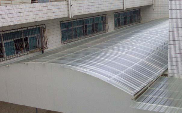 阳光板屋顶结构