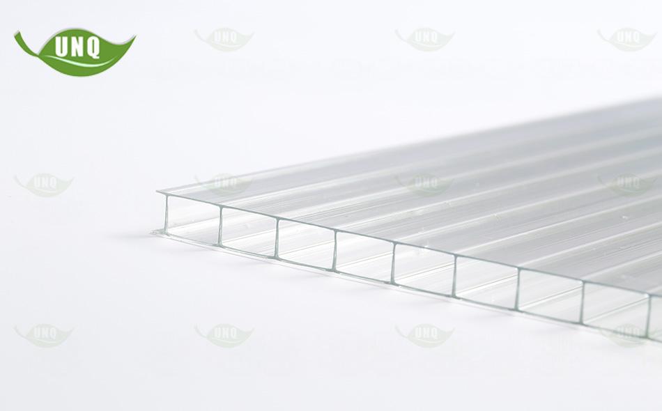 8mm透明三层阳光板