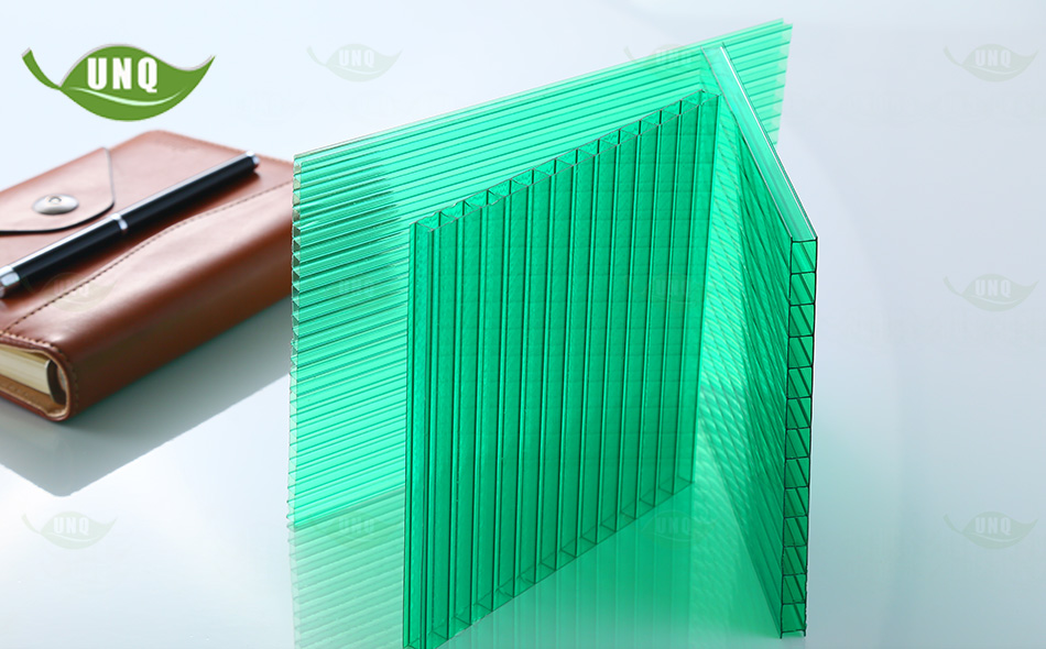 10mm草绿三层阳光板