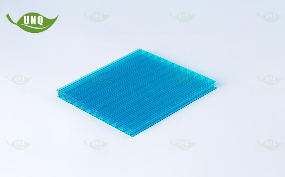 8mm湖蓝四层阳光板