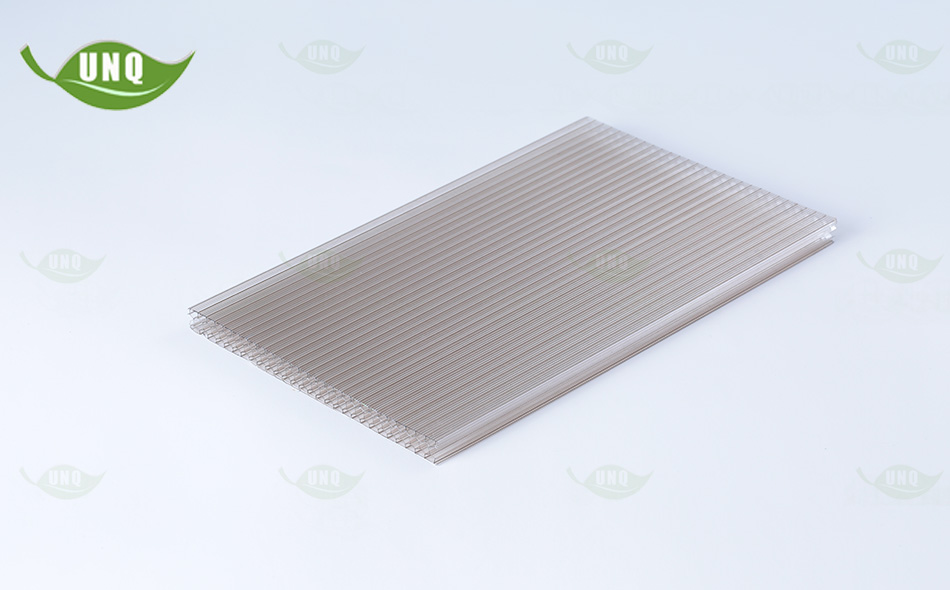 6mm茶色蜂窝阳光板