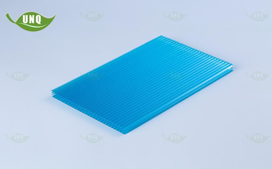8mm湖蓝蜂窝阳光板