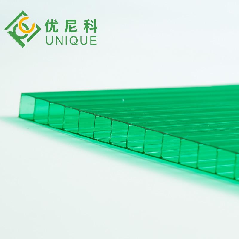 河北优尼科双层草绿阳光板图片