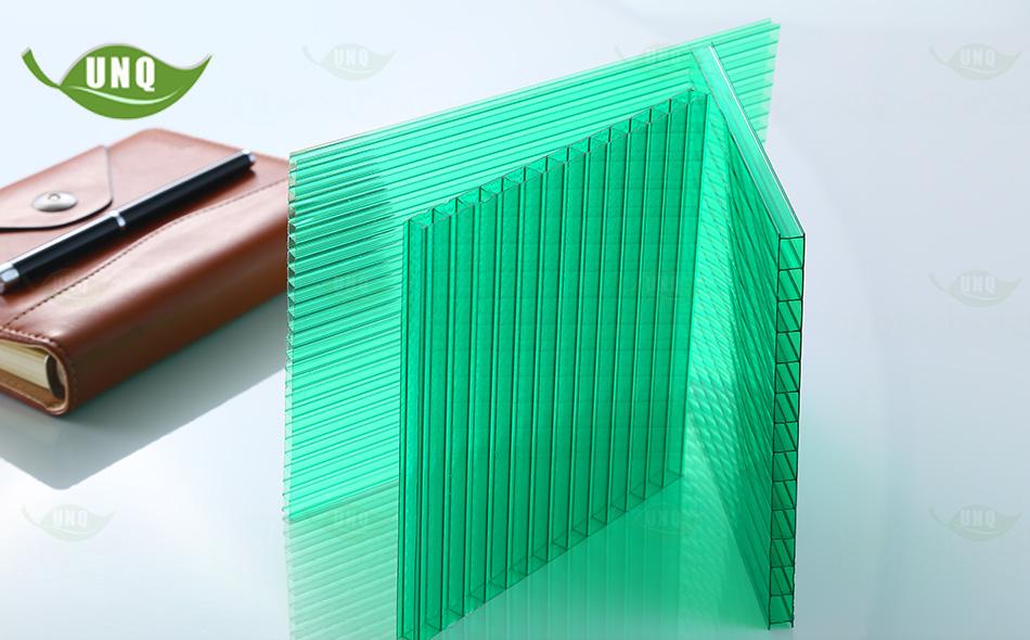 优尼科双层草绿阳光板图片