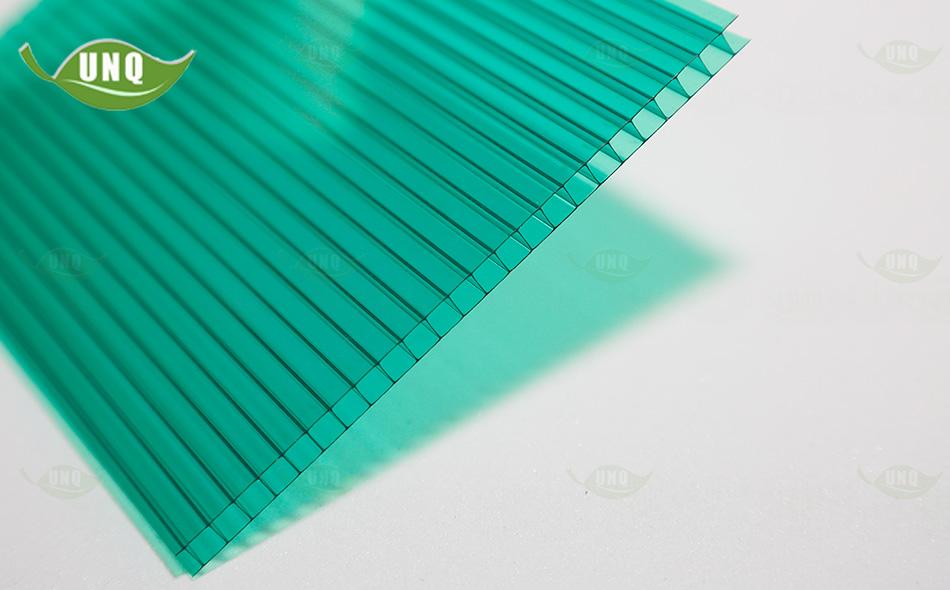 双层草绿阳光板图片