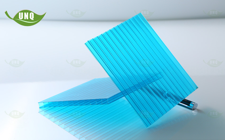 湖蓝双层阳光板图片