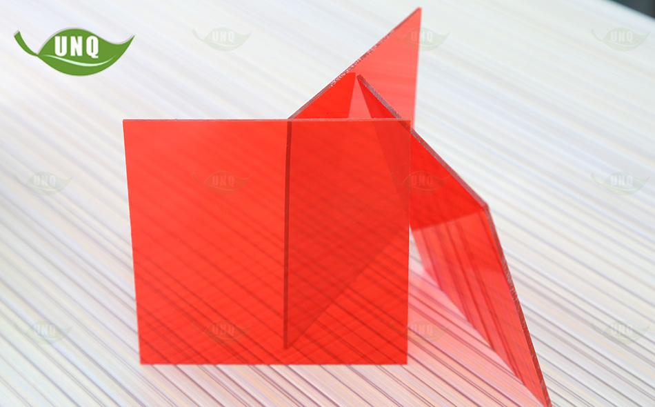 优尼科红色pc耐力板
