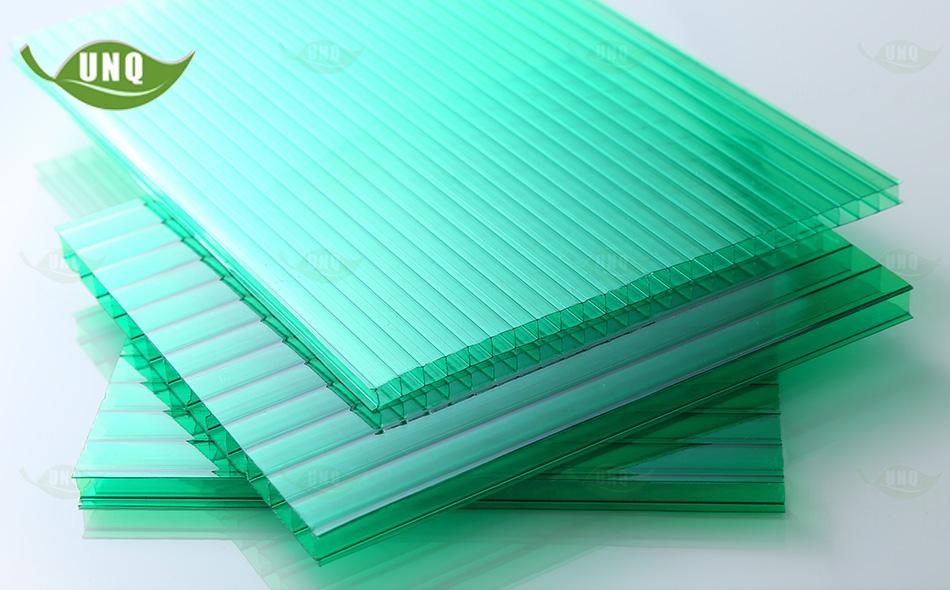 优尼科草绿双层阳光板图片