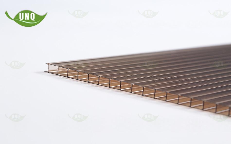 优尼科茶色双层阳光板