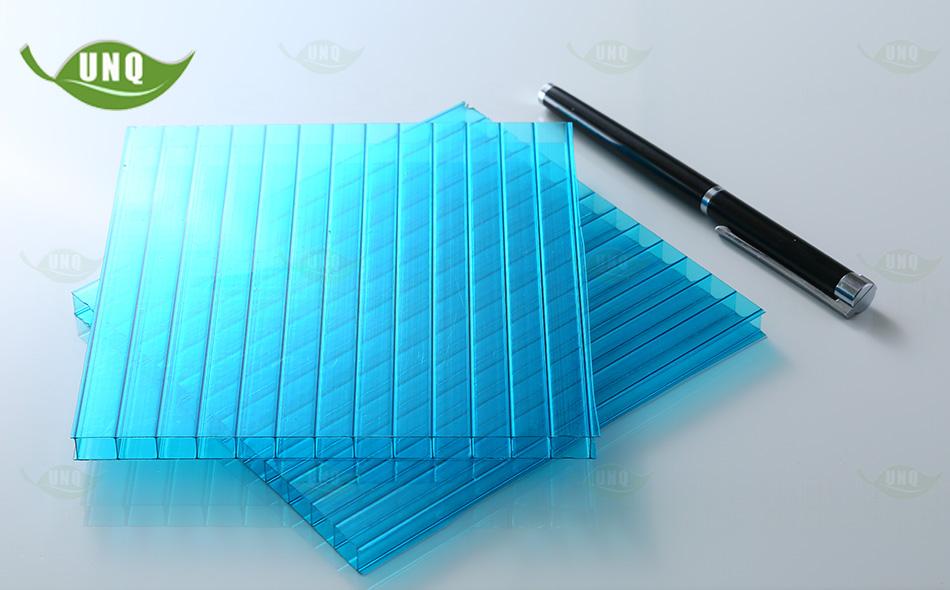 pc湖蓝双层阳光板