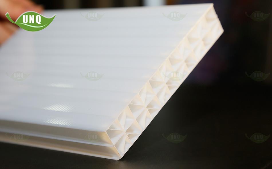 优尼科米字型乳白阳光板